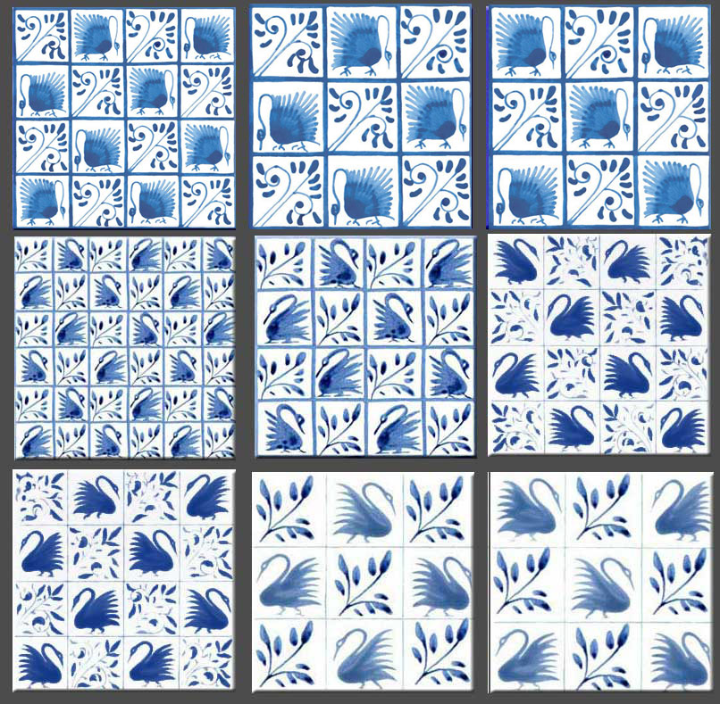 Morris and Co. Swan tiles