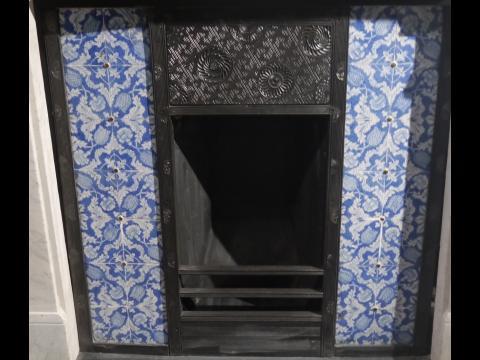 Kelmscott Manor, Tulips and Carnations fireplace insert