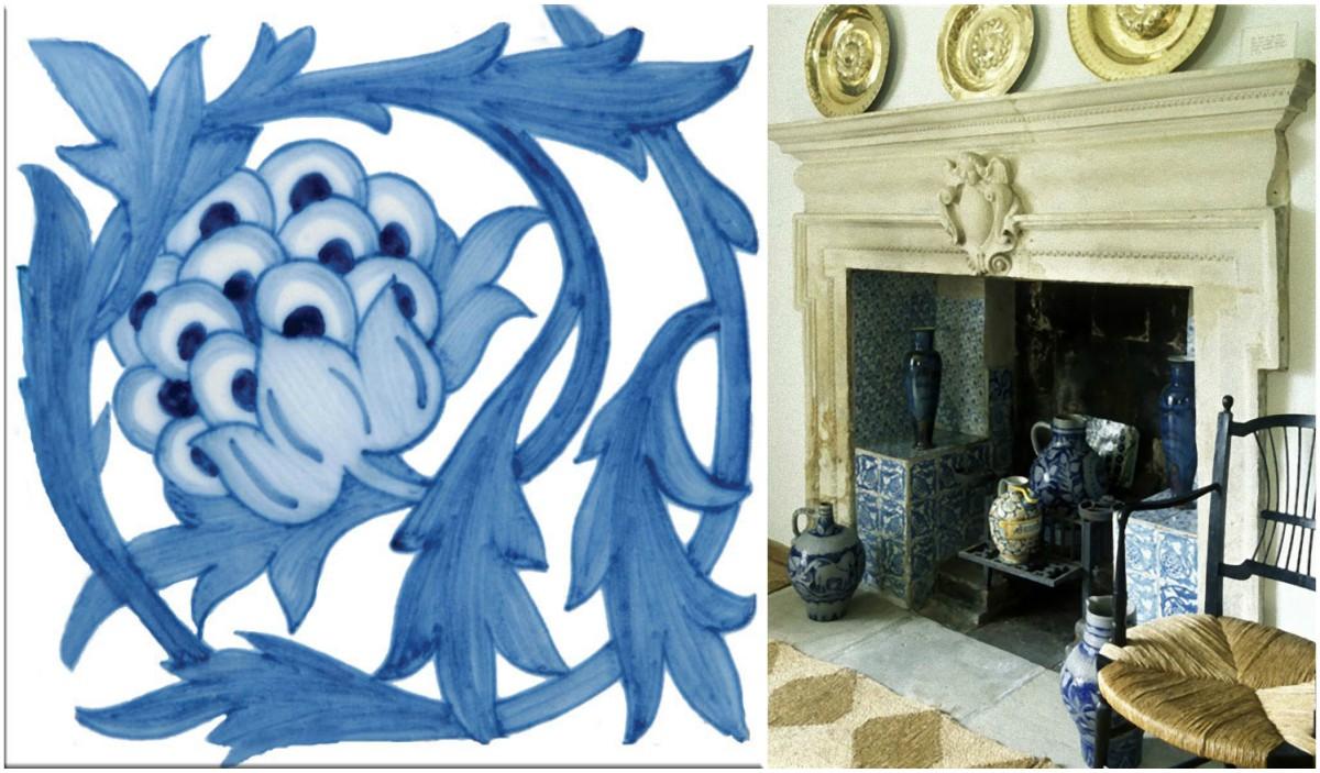 Kelmscott Fireplace Artichoke Tile