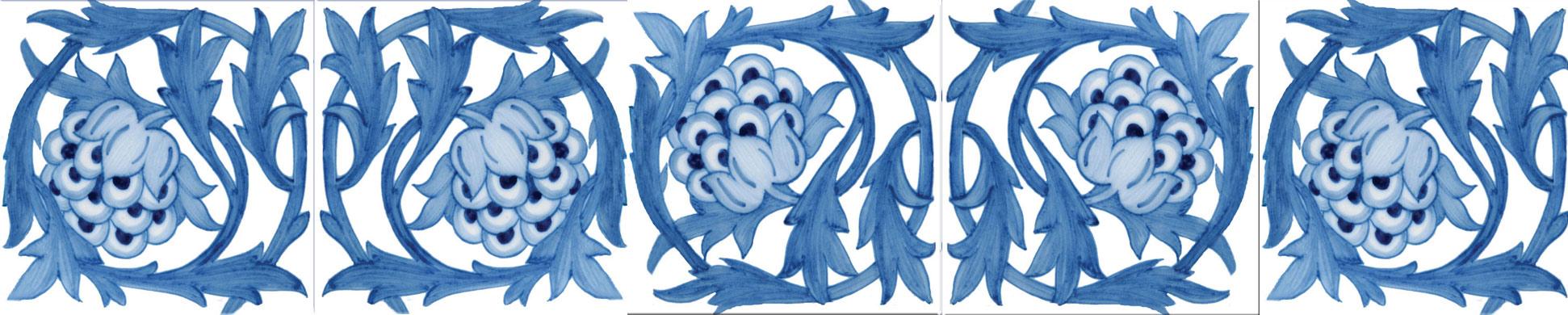 William Morris and William De Morgan artichoke tiles