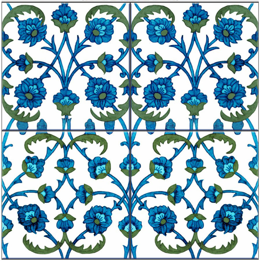 Kelmscott Manor Persian Diaper tiles