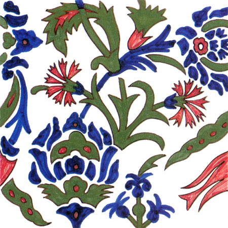Philip Webb early Persian design for Morris and Co.