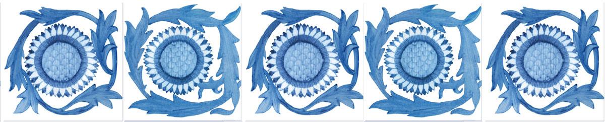 William Morris Sunflower tile variations