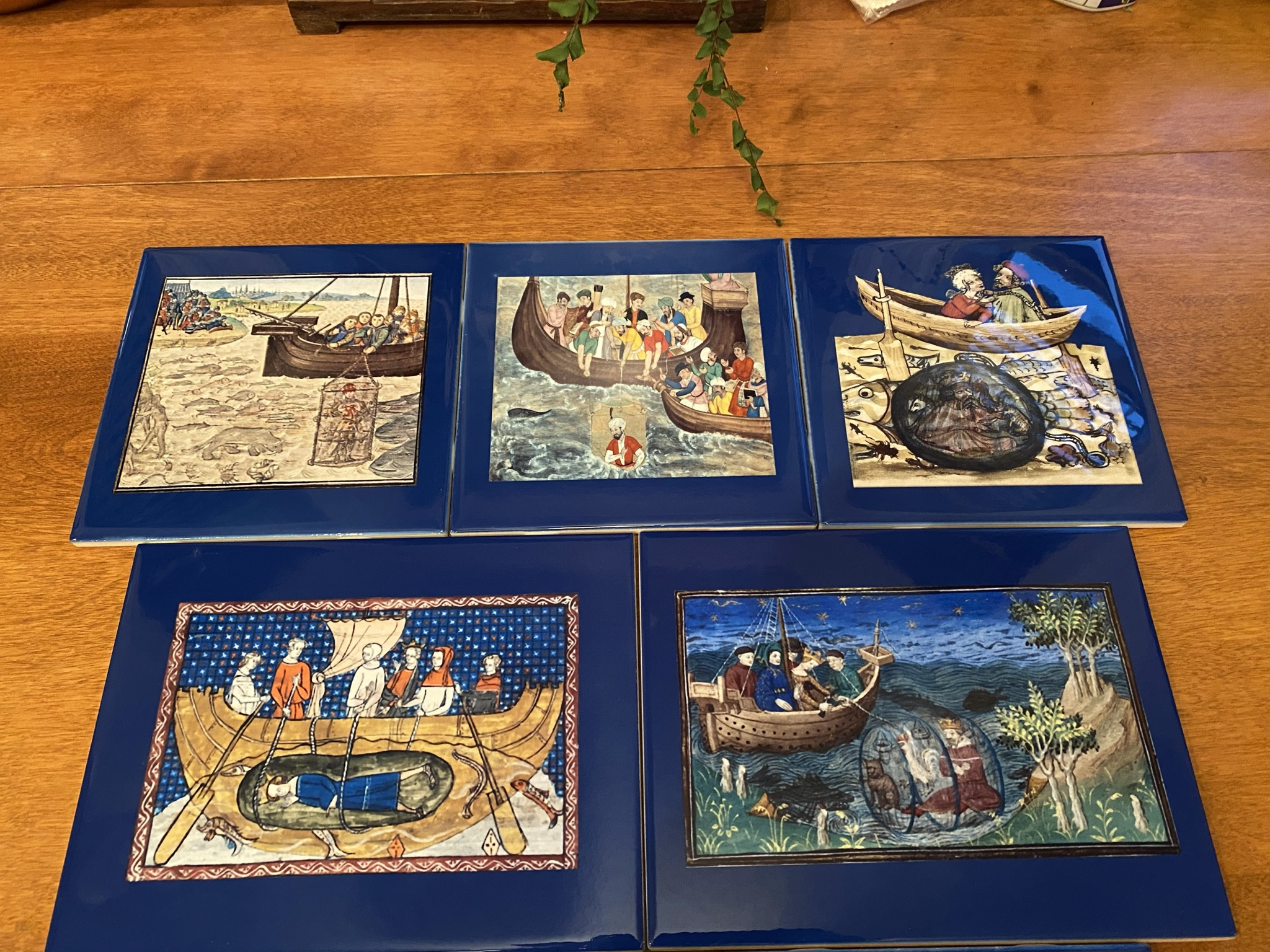 Alexander the Great tiles, square and rectangular