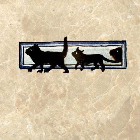 Procession of Black Cats 13th century