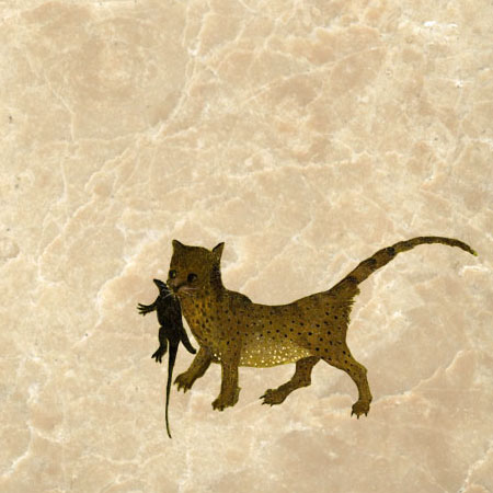 Garden of Earthly Delights Cat with Salamander, 1503, Hieronymus Bosch