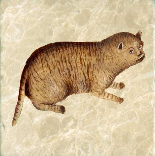 15th century arsenal cat, not too happy
