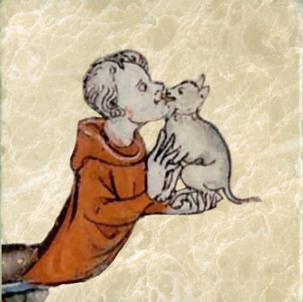 Unknown medieval cat lover
