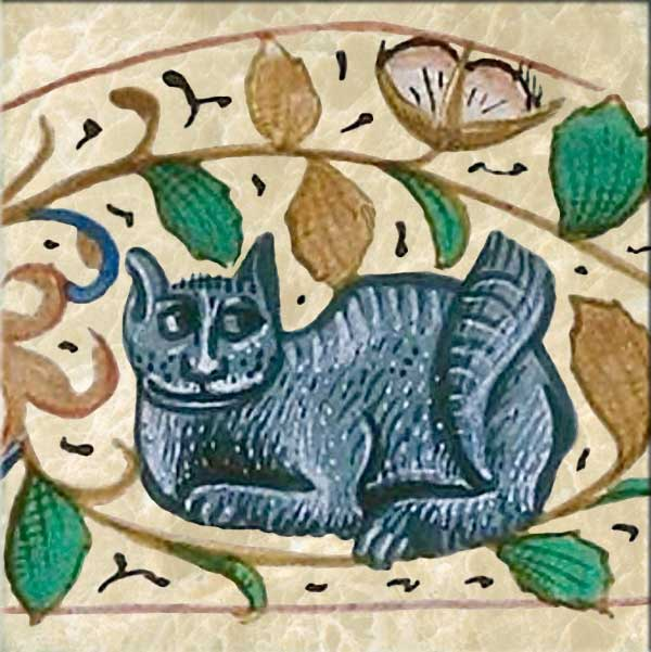 Enigmatic cat from the Rothschild ms.