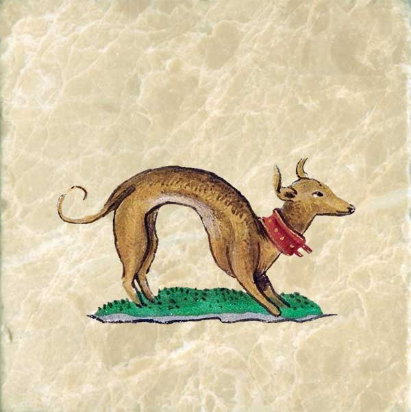 Dachsund from the Book of Hours of Joanna the Mad.