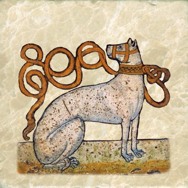 Spanish Alaunt. Preferred medieval hunting dog.