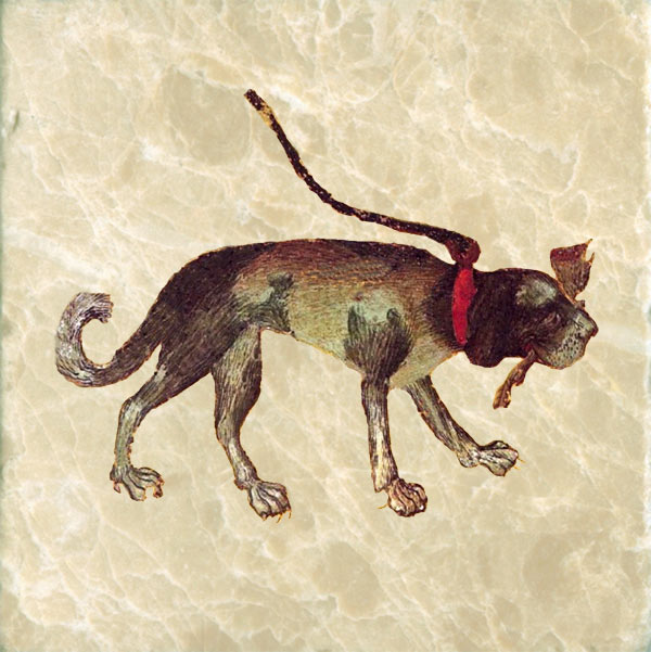 Stuttgart Playing Card: Dog with Leg, 1430.