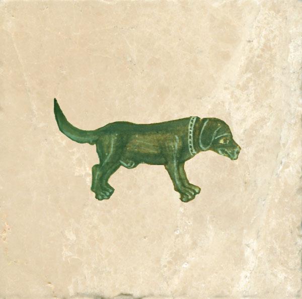Green hunting dog.