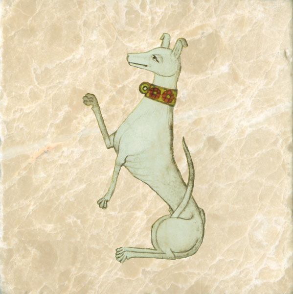 Dog from the coat of arms of Henry VII.