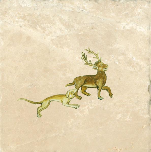Dog from Gorelston Psalter, 1310.
