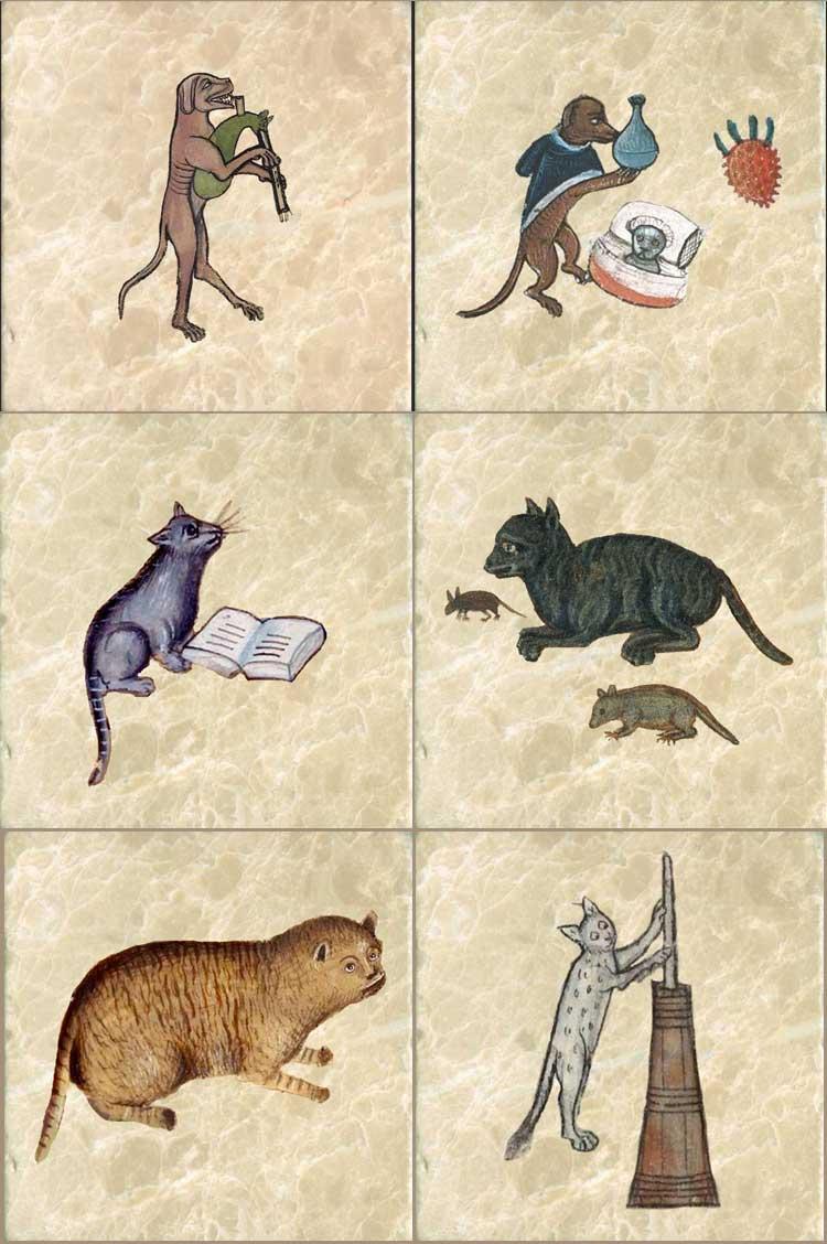 Medieval Cat Tiles
