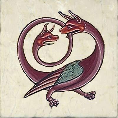 Mercurius as three-headed dragon, Rosicrucian Compendium, 1760