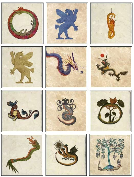 Ancient dragons on marble tiles, part 1