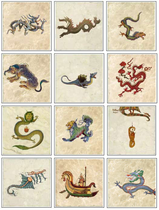 Ancient dragons on marble tiles, part 2