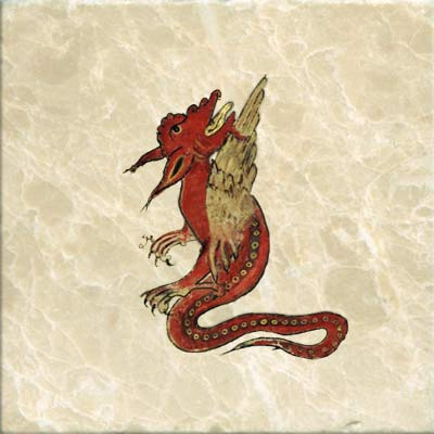 Dragon from the Bestiary of the young Anne Walshe, circa 1425