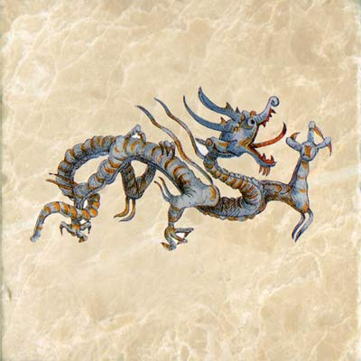 Blue Wish-granting Water dragon (three toes)