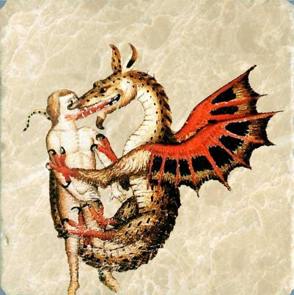 Dragon kisses, Chantilly, Musee Conde