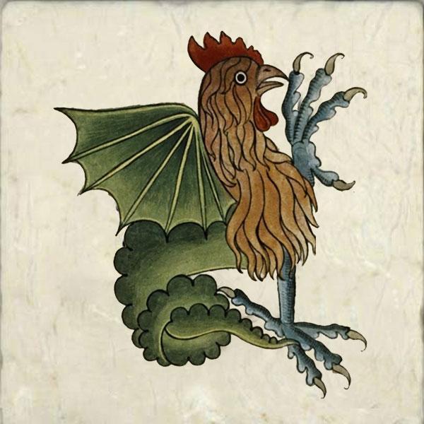 Cockatrice from Tudor Bestiary