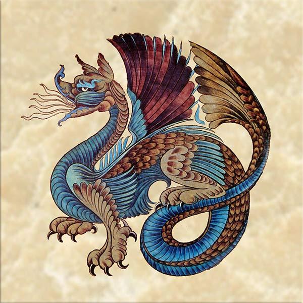 William De Morgan Persial Dragon