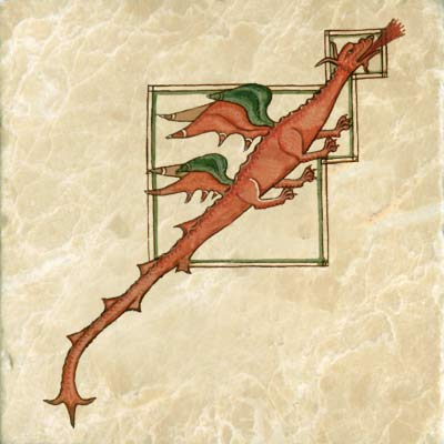 Harley Bestiary manuscript dragon