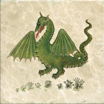 Historia Plantarum dragon, from the Gaza translation, 1483.