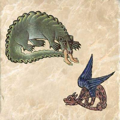 Hungry and remorseful dragons