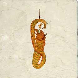 Midgard dragon. 17th century Icelandic