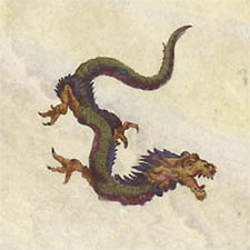 Japanese fire dragon (three toes)