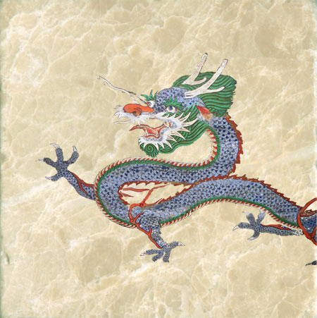Korean four-toed dragon from the drum at Sungnyemun in South Korea