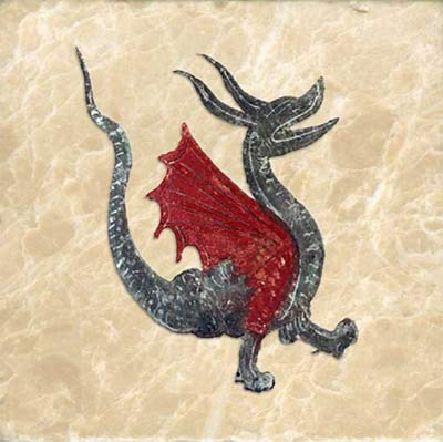 Red winged dragon, Morgan library