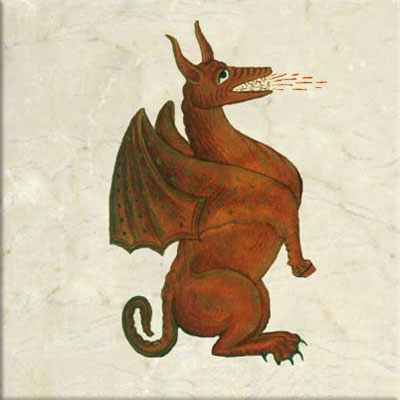 Red dragon of Wales from the coat of arms of Henry VII