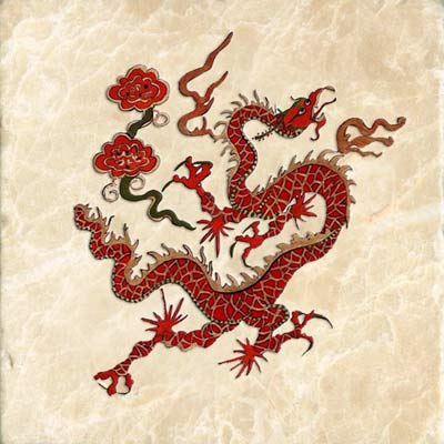 Red Qing dynasty dragon