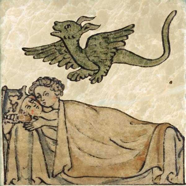Wedding feast, Part 2: Stolen kisses.  Early Roman codex