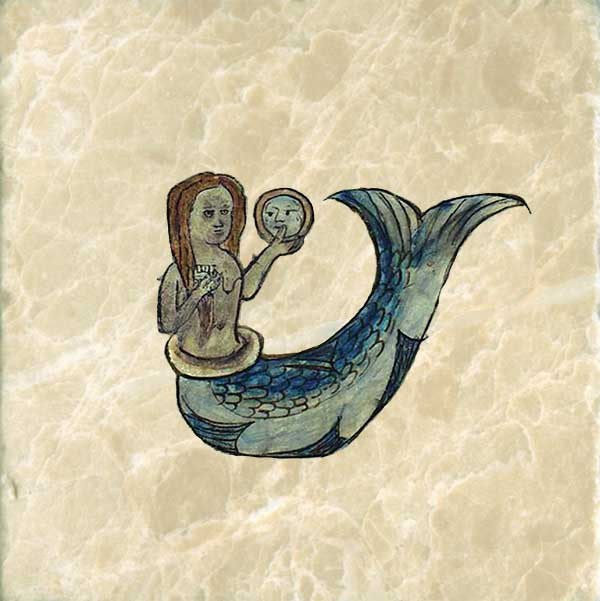 A mermaid.  Mermaids are vain and like to admire their own image.