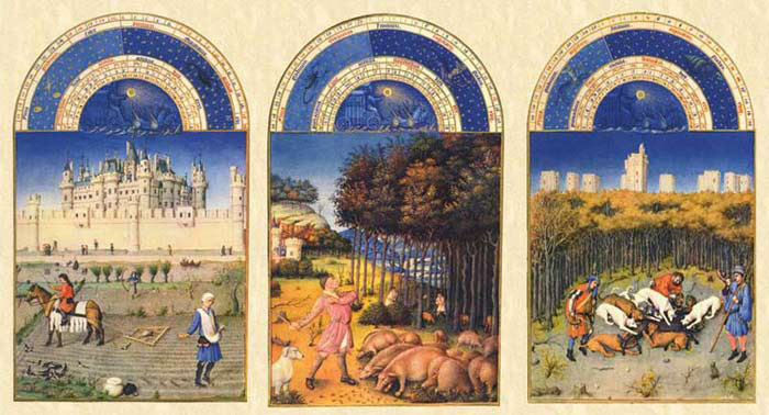 The autumn months of the Très Riches Heures