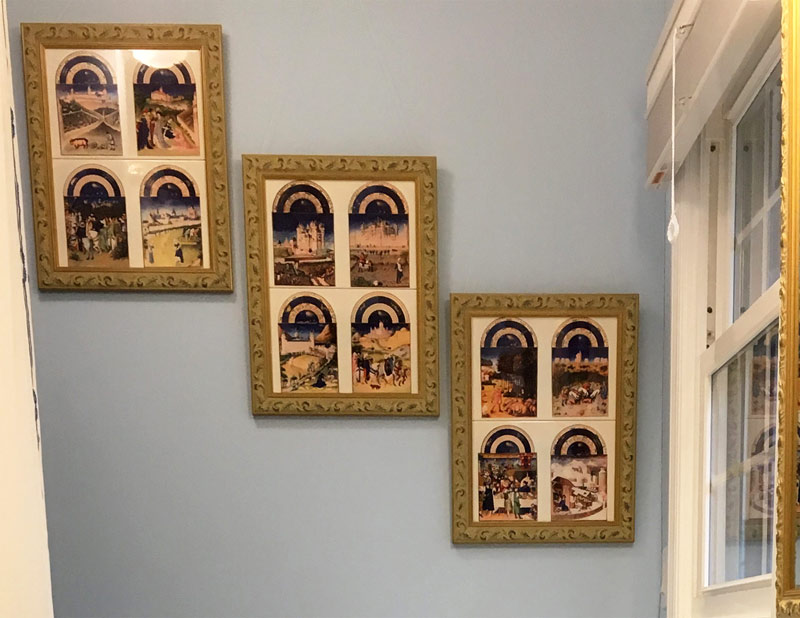 Framed Book of Hours tiles