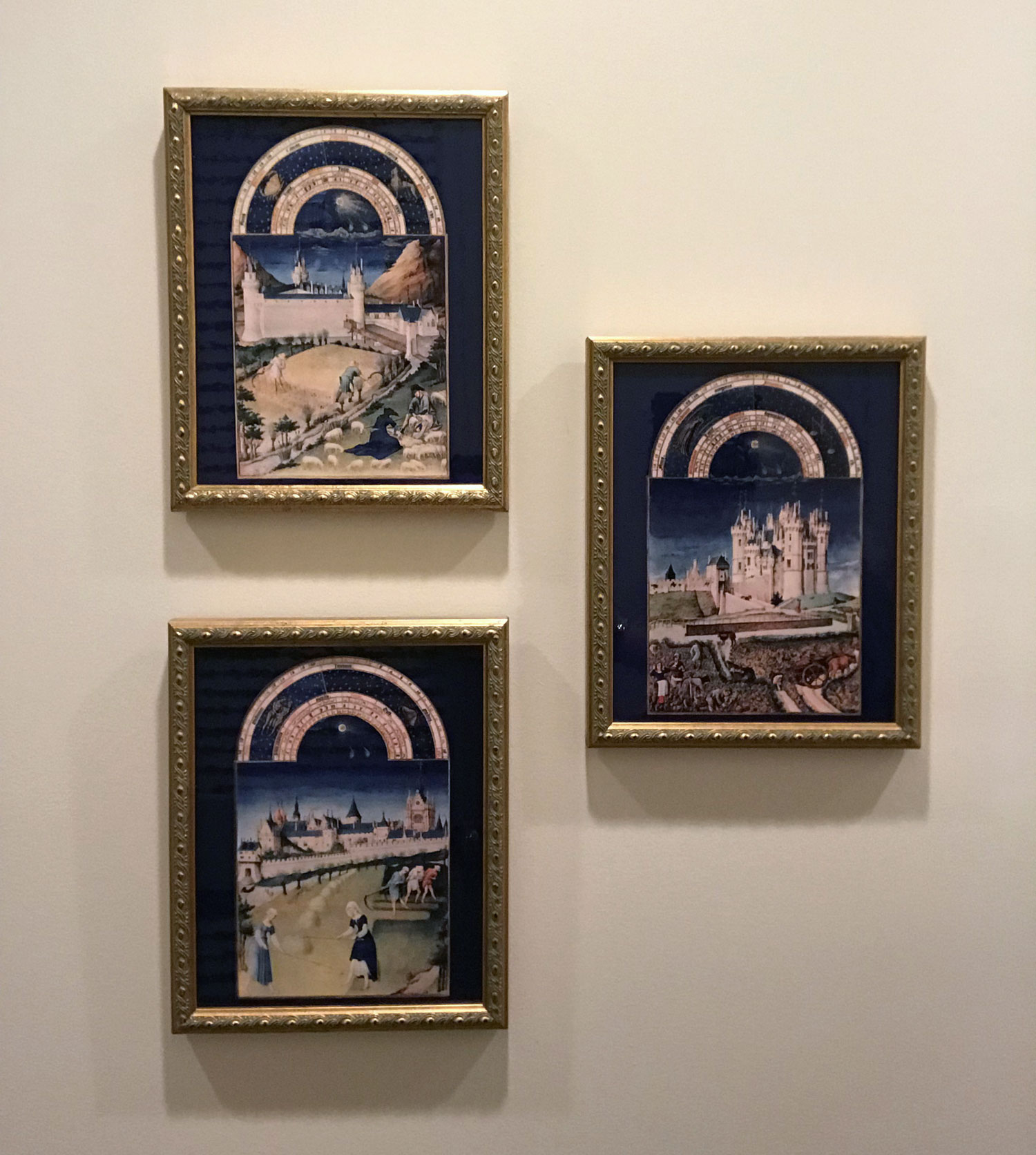 Tres Riches Heures, Framed Tiles