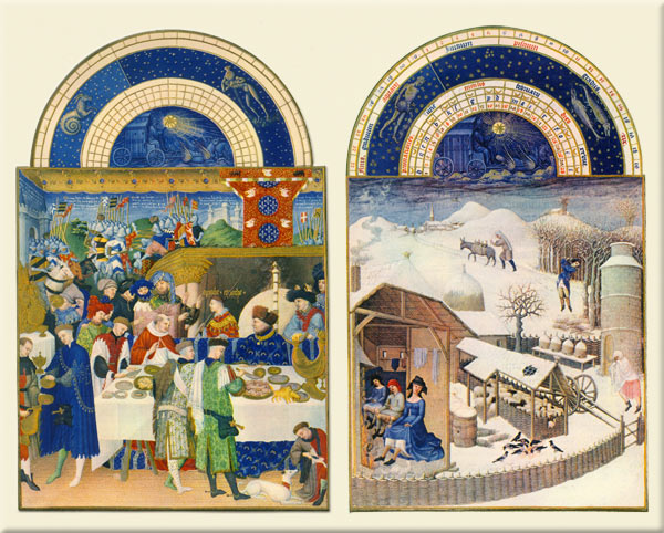 Tres Riches Heures backsplash tiles