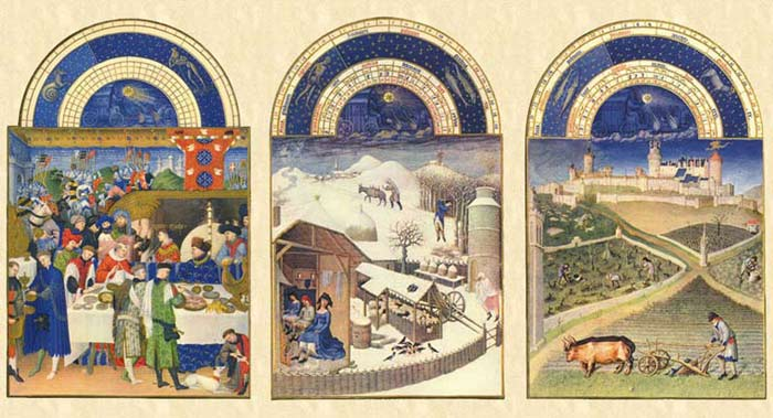 The winter months of the Très Riches Heures