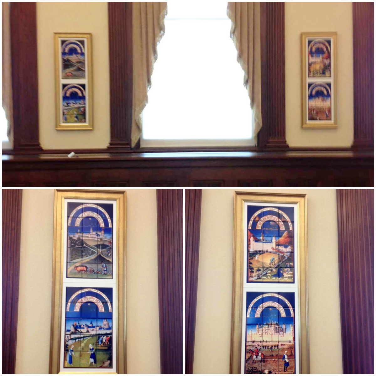 Book of Hours murals for World Food Prize