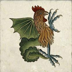 Cockatrice, Tudor Bestiary, 1520