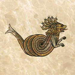 Ninth century German dragon with spiral growth curve