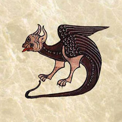 Hugh de Fouillay dragon, 12th century, France