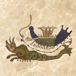 Lieber Floridus dragon, with Noah's ark