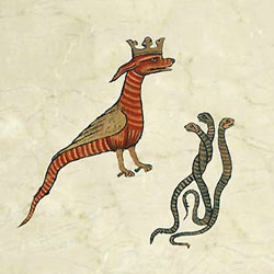 Early striped basilisk with the three controllers of the universe